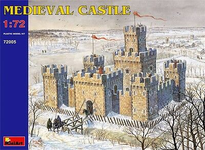 Miniart Kit Castello Medievale Medieval Castle 1/72 72005