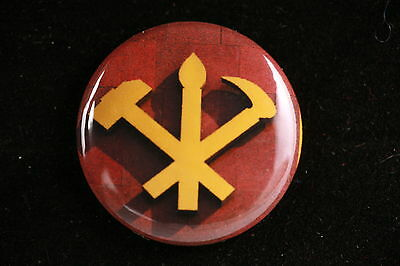 """DPRK North Korea Korean Workers Party Communist Kim Il-Sung 1"""" Button Badge Pin"""