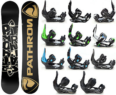 Snowboard Pathron Scratch Carbon Rocker + Raven Bindungen M/L oder L - Neu!