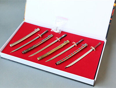 ONE PIECE Roronoa Zoro Cosplay 8PCS Metal Weapons Sword Props Set in Gift Box