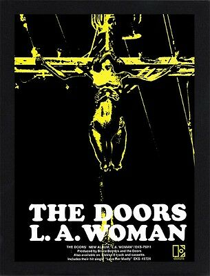 Framed The Doors L.A. Woman Promo Poster A4 Size In Black / White Frame