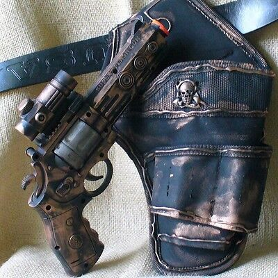 Steampunk gothic Gun Holster Belt Victorian Pirate CP revolver toy light sound