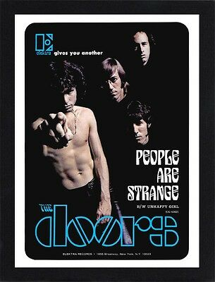 Framed The Doors People Are Strange Promo Poster A4 Size In Black / White Frame