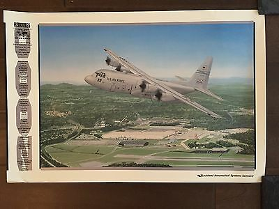 Glossy IN COLOR C-130 Hercules Aircraft poster- circa 1990s