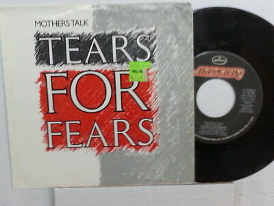 "TEARS FOR FEARS 45 RPM - ""Mother's Talk"" & ""Sea Song"" w/ pic sleeve VG+ cond"