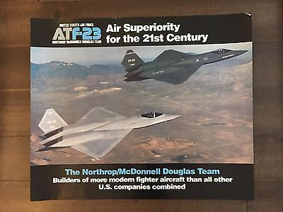 Glossy IN COLOR USAF ATF-23 Aircraft Poster- circa 1990s