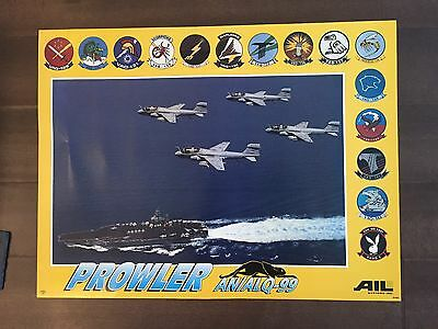Glossy IN COLOR Prowler AN/ALQ-99 Aircraft Poster- circa 1990s