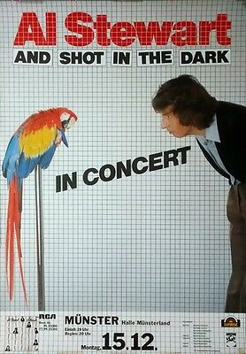 STEWART, AL - 1980 - Konzertplakat - and Shot in the Dark - Tourposter