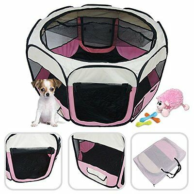 Lolipet - Puppies pink play pen - Large pet play pen for indoor and outdoor use