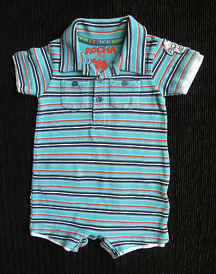 Baby clothes BOY 0-3m Little Rocha turquoise/red/black/white romper COMBINE POST