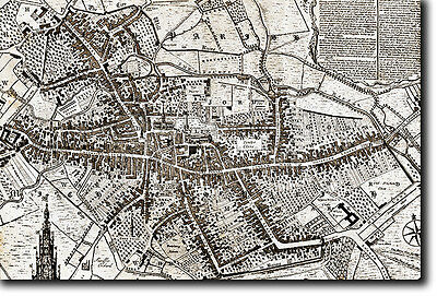 Map Of Coventry From 1749 - Historic Vintage Photo Print Poster