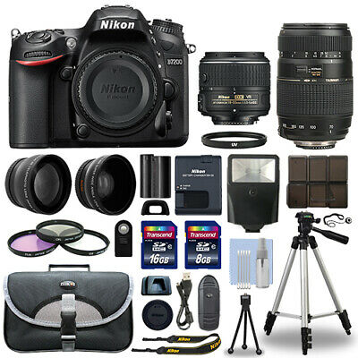 Nikon D7200 Digital SLR Camera + 4 Lens Kit 18-55mm + 70-300mm + 24GB Package