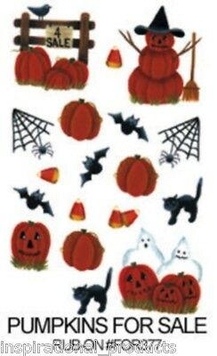 Rub On Transfers PUMPKINS FOR SALE Halloween Acid Free Card Making FOR377