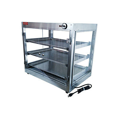 HeatMax 29x20x27 Commercial Food Warmer Pizza Pastry Patty Display Case