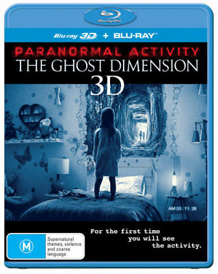 Paranormal Activity - The Ghost Dimension 2D + 3D Blu-ray Region B Brand New!