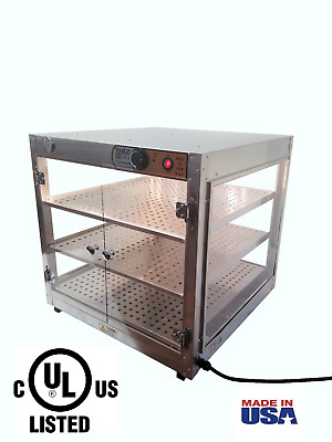 "Commercial Food Warmer HeatMax 24x24x24 up to 20""Large Pizza Heated Display Case"