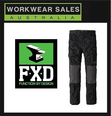 FXD Black WP-1 WP1 Work Pants All Sizes Free postage WITH KNEE PAD POCKETS