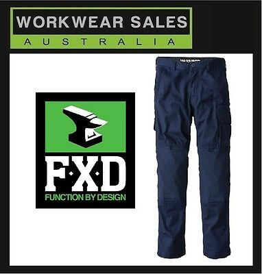 FXD Navy WP-1 Work Pants WITH KNEE PAD POCKETS Free postage in Australia