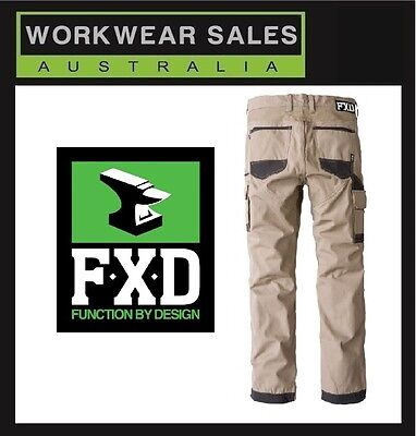 FXD Khaki WP-1 Work Pants Australia Free Postage  WITH KNEE PAD POCKETS