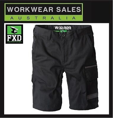FXD Black LS-1 Mens Shorts Free post Australia wide