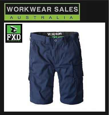 FXD Navy LS-1 Mens Lightweight Work Shorts Free Postage Australia Wide LS1