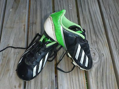 Adidas Small Boys Soccer Boots Black Teal Us 12.5...eu 30...uk 11.5 Pre Owned