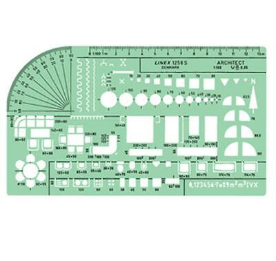 Linex Professional Universal Architect Template Scale 1:100  Ref: 1258S