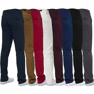 Mens ENZO Designer Fashion Chinos Stretch Skinny Slim Fit Jeans Pants All Sizes