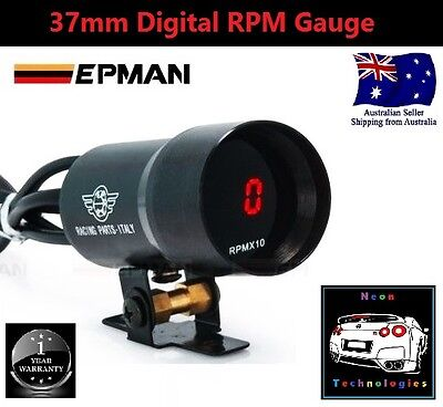 37mm Digital RPM TACHO Gauge *RED LED* Turbo Skyline WRX EVO MPS STI V8 4WD*