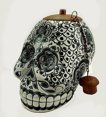 Legends Direct Day of the Dead Sugar Skull Tabletop Tiki Torch Hand Painted Clay