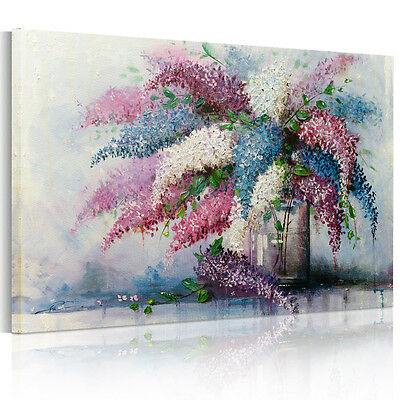 HD Canvas Prints Home Decor Wall Art Painting Vase Flower Watercolor Unframed
