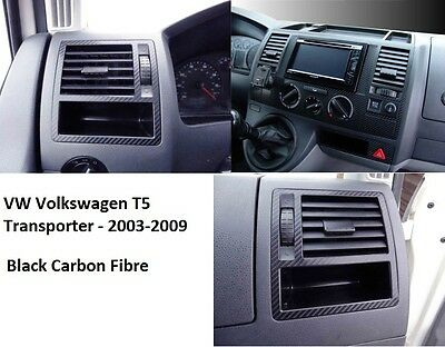 Set alu stickers Carbon fibre for VOLKSWAGEN-T5 TRANSPORTER, Consol & air vents
