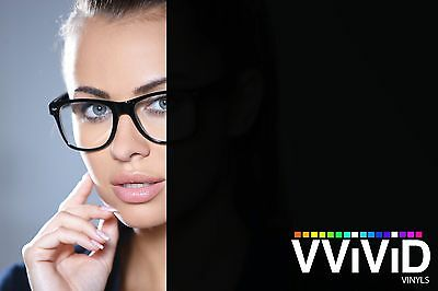 "Vvivid 2ft x 60"" Opaque Black Out Matte Vinyl Window Decal"