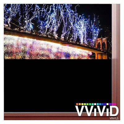 "VViViD Black Out Matte Opaque 7ft x 60"" Privacy Vinyl Window Wrap Decal Roll"
