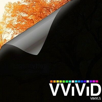 "VViViD Black Out Matte Opaque 10ft x 60"" Privacy Vinyl Window Wrap Decal Roll"