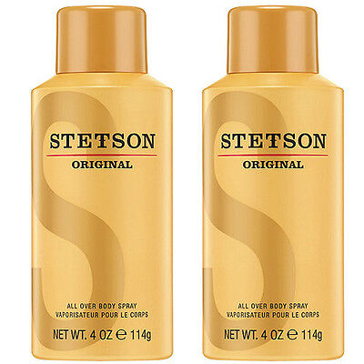 size 40 buy best san francisco LOT OF TWO Stetson Original All Over Body Spray 4 Oz New ...