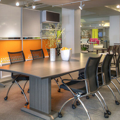 8' - 16' MODERN CONFERENCE ROOM TABLE AND CHAIRS SET Meeting Boardroom 8ft 6chr