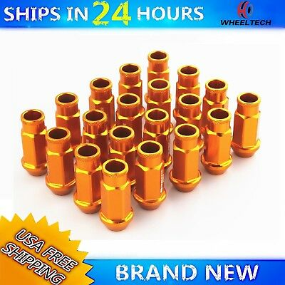 20pcs Gold Color 50mm Alu Wheel Lug Nuts M12X1.5 For Honda Civic Acura Integra