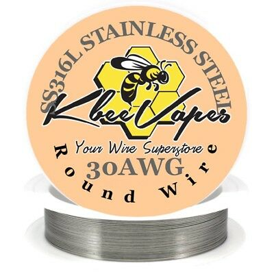 SS 316L - Stainless Steel Wire 50ft of 30 Gauge AWG