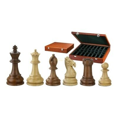 Chess figures - Karl the Size - Wood - Classic Staunto - Kings height 95 mm