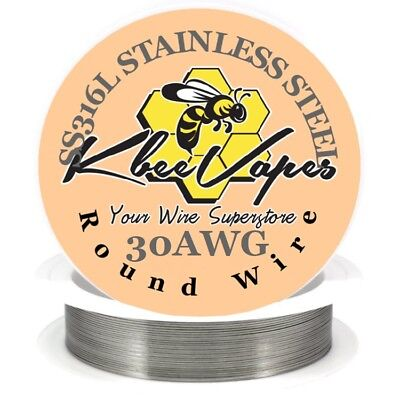 SS 316L - Stainless Steel Wire 250ft of 30 Gauge AWG