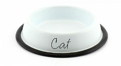 LP27894 White cat food bowl By lesser & pavey Home sweet home £ 3.99
