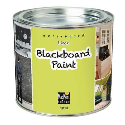 Blackboard Paint by MagPaint 0.5 litre (5sqm coverage) - Lime (Pack of 1)