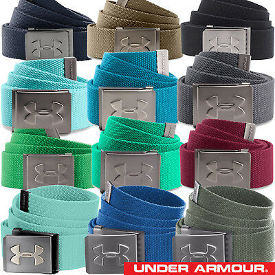 Under Armour Men's Webbing Canvas Golf Belt Bottle Opener Buckle - 1252132