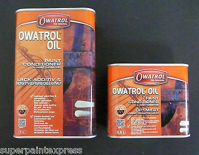 OWATROL OIL Paint Conditioner and  Rust Inhibitor 0.5 Litre and 1 Litre ltr