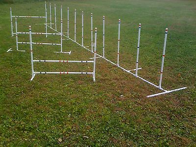Dog Agility Training Equipment 3 Jumps and 12 Weave Poles