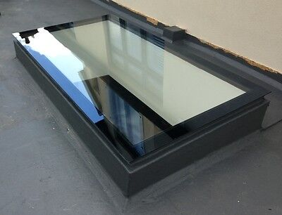 Skylight Flat Roof Rooflight T/G + Kerb Clear Self Cleaning Glass - Many Sizes