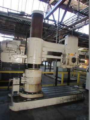 "6' Arm x 19"" Column Carlton Radial Arm Drill Traveling Head Drill Hole Milling"