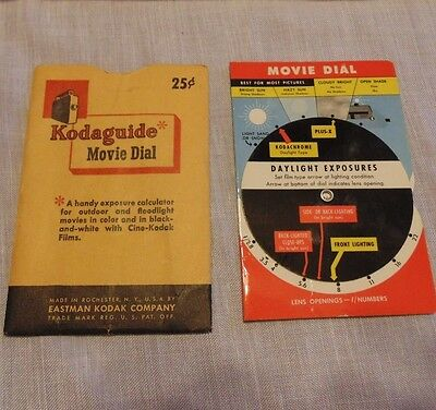 Kodak Kodaguide Kodachrome Movie Dial R-2 with cover