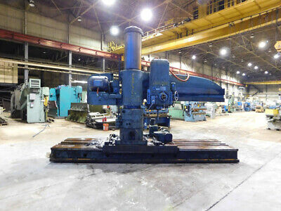 "7' Arm x 19"" Column Carlton Radial Arm Drill Traveling Head Drill Hole Milling"